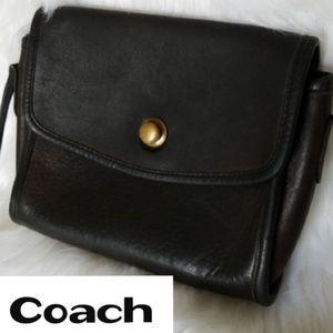 Vintage Coach Brown Leather Crossbody Bag